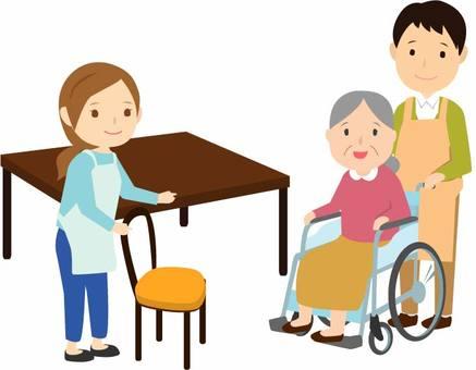 Wheelchair table guide