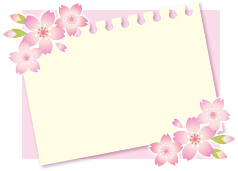 Cherry blossom memo card
