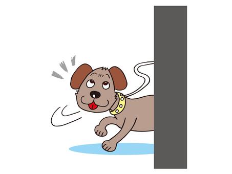 A dog noticing something