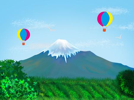 """""""富士和氣球""""的田園風光"""