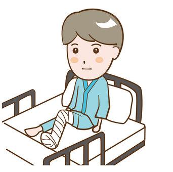 Male inpatient injury