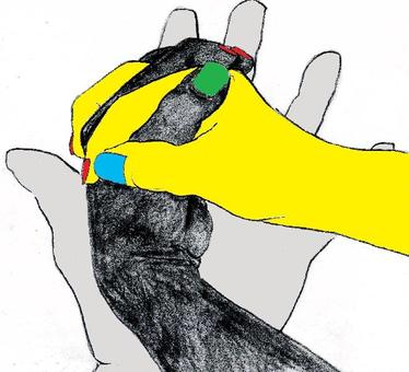 Three color hand