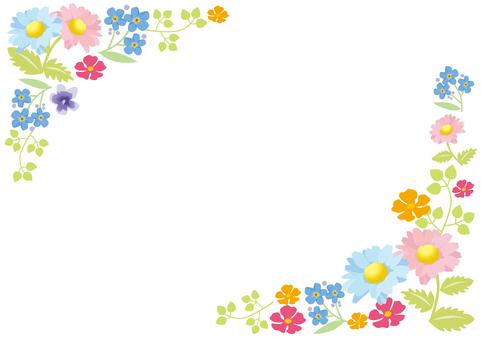 Spring flower frame 2