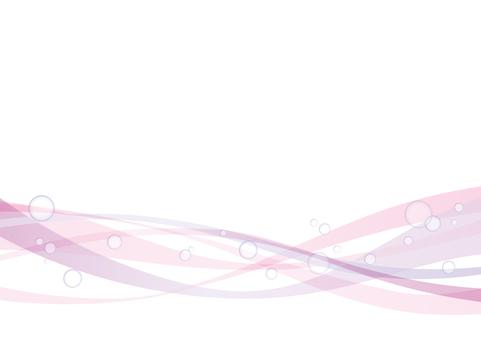 波と水滴_ライン素材02