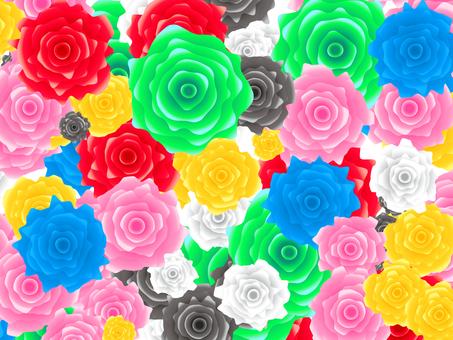ぎざぎざな薔薇の壁紙素材
