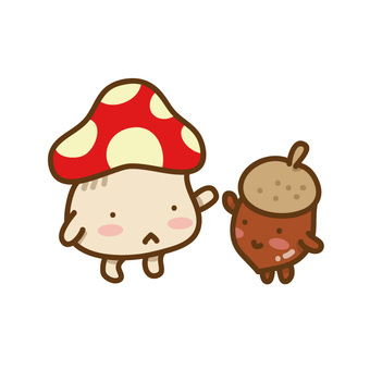 High-touching mushrooms and acorns