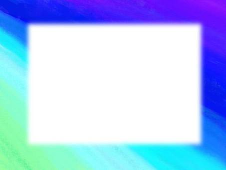 Gradation blue frame transparent png