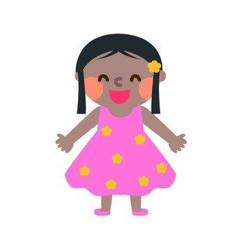 Cute South American girl