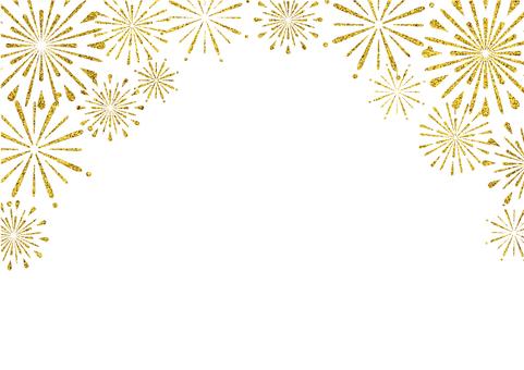 Fireworks frame (on gold)