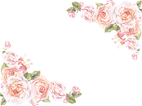 Flower frame 145 - Flower frame of roses of gentle color of Oya