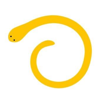 간단한 뱀 (노랑)
