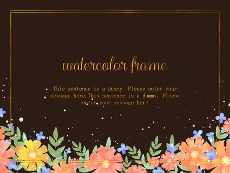 Gerbera frame / brown