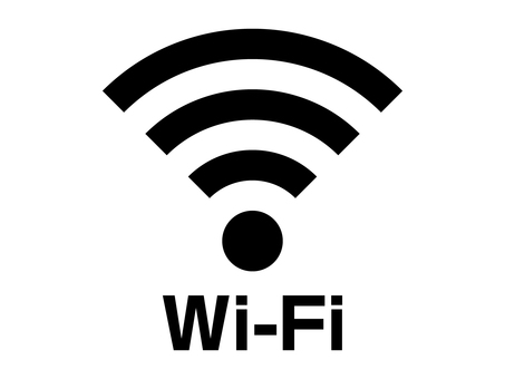 Wi-Fi (WiFi) with mark character