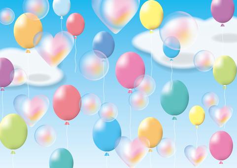 肥皂泡沫和氣球