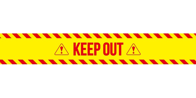 KEEP OUT! Continuation icon banner