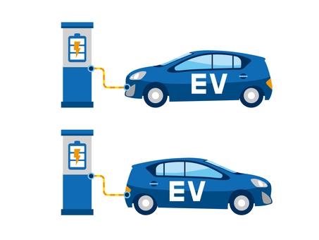Illustration 2 of an electric car