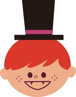 Boy's face illustration
