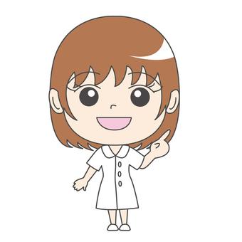 Nurse A: Front: index finger