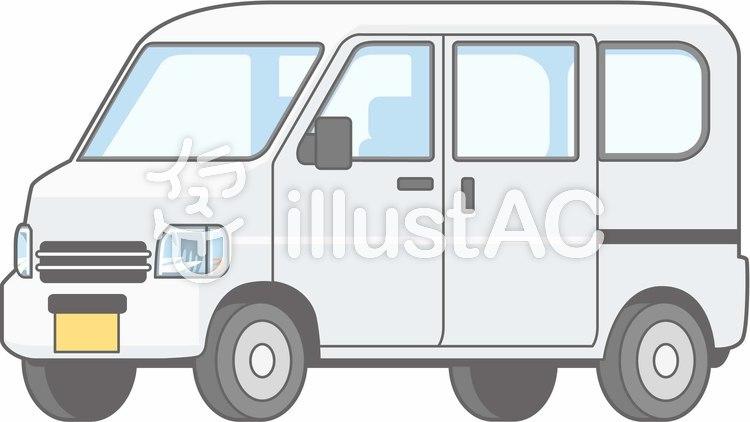 車01-軽バン-単品-全身のイラスト