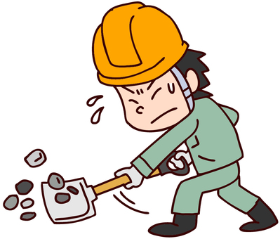 Illustration of a man working at a construction site