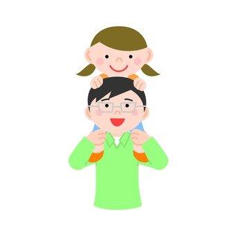 Parent / child / shoulder car