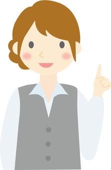 OL female pointing