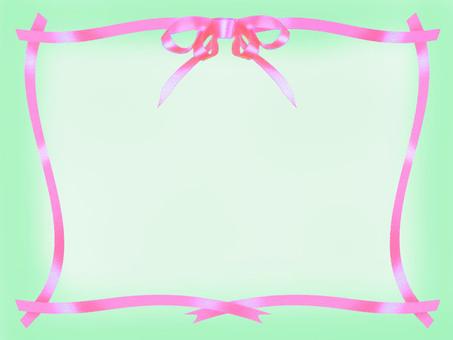 Pink ribbon frame A