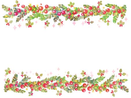 Winter frame christmas