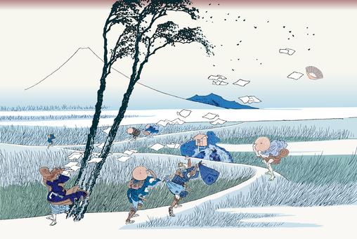 Thirty-six scenic places of tokutake · Ejiri
