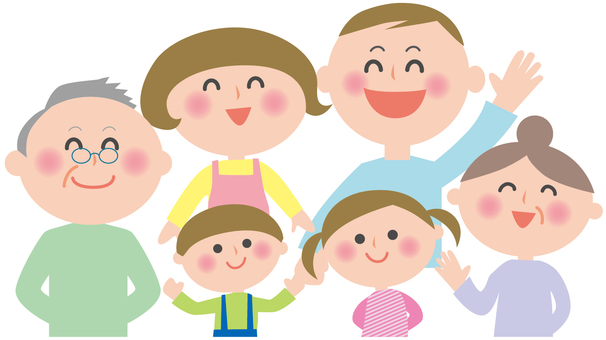 Family Illustration 6 people -2