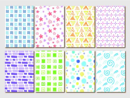 필기 바람 원활한 패턴 모양