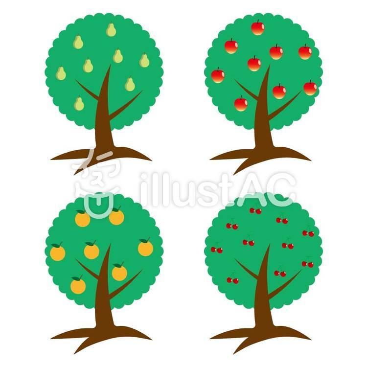 果物の木のイラスト