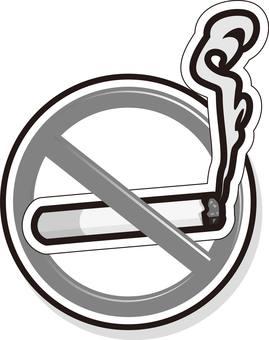 Monochrome, No Smoking, Sign, Mark