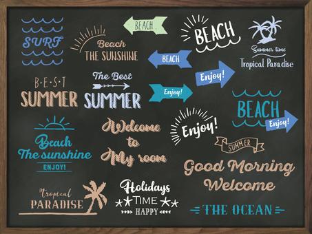 夏季西海岸風格的消息標誌