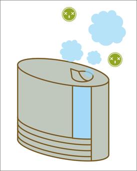 Influenza prevention humidifier