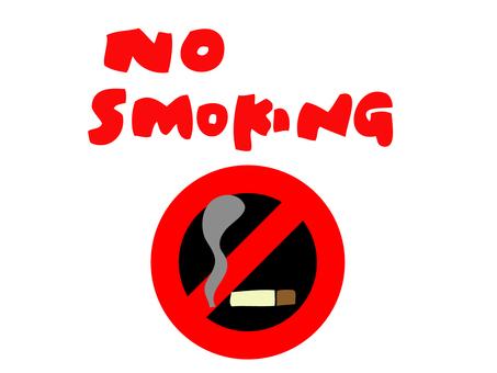 Illustration of no smoking