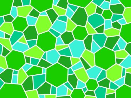 Mosaic green hexagon wallpaper