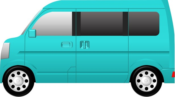 Minivan (car) Blue