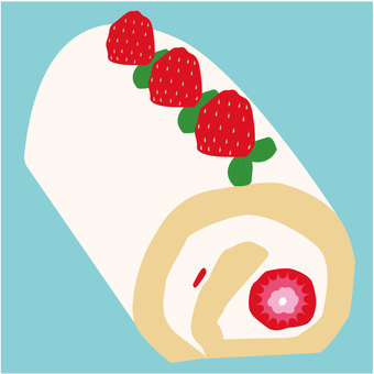 Food 26 _ Roll cake _ strawberry_ sweets