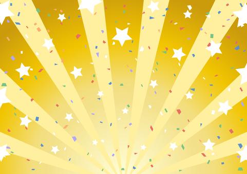 Star confetti concentrated line