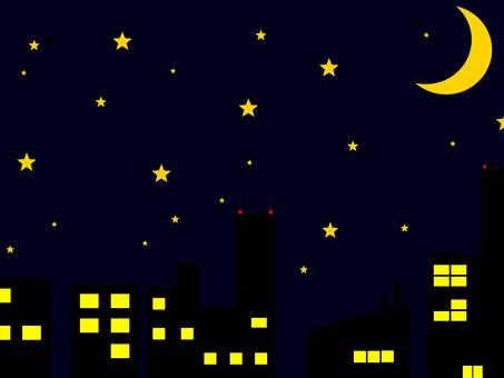 도시의 밤하늘