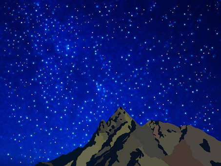 Starry sky and Yarigatake
