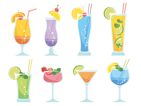 Various tropical drinks