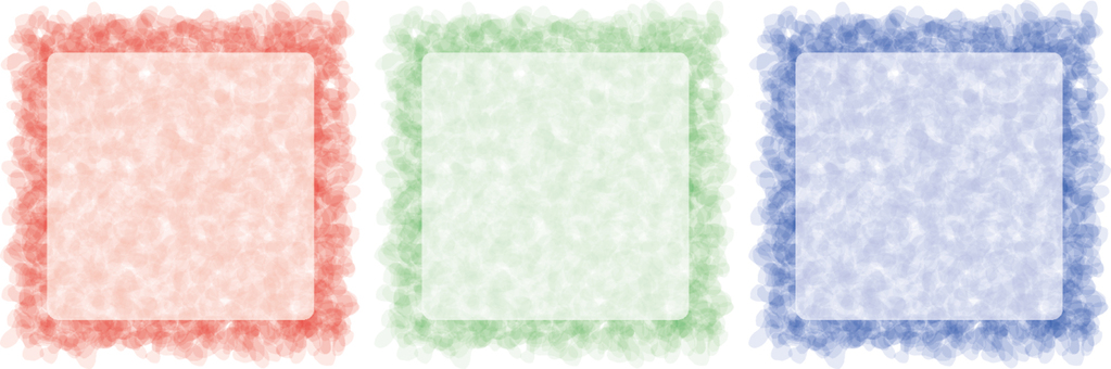 Watercolor-like frame square