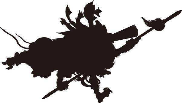 Ukiyo-e character silhouette part 86