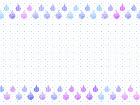 Drop of rain frame