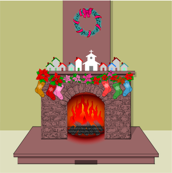 Christmas Specification-Fireplace