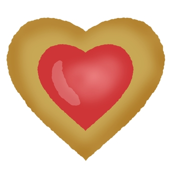 Heart cookie ②
