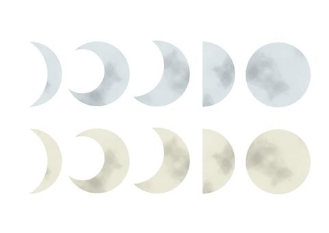 月アイコン水彩02