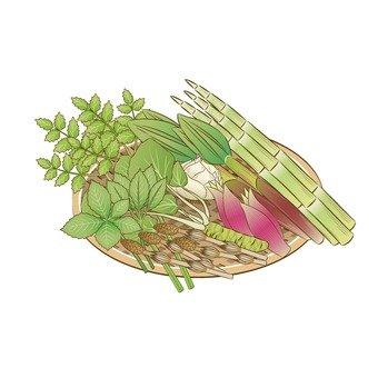 Wild vegetables